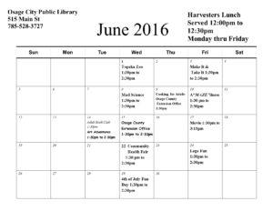 SRP Calendar June 2016