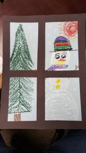 snowman art adven